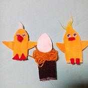 Куклы и игрушки ручной работы. Ярмарка Мастеров - ручная работа Сказка Два цыпленка.. Handmade.