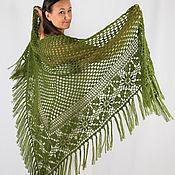 Аксессуары handmade. Livemaster - original item Shawl Crocheted Juicy greens. Handmade.