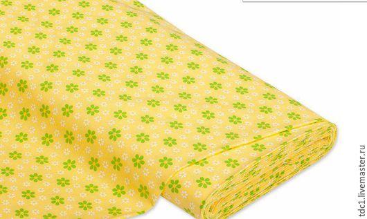 Шитье ручной работы. Ярмарка Мастеров - ручная работа. Купить Хлопок 100%. Handmade. Желтый, ткань, ткани для кукол