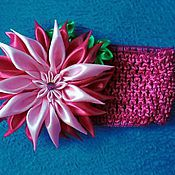Аксессуары ручной работы. Ярмарка Мастеров - ручная работа Повязка на голову с цветком. Handmade.