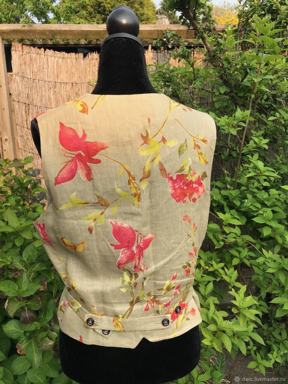 Linen vest for women, Holland