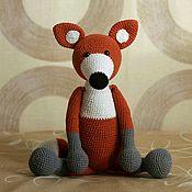 Мягкие игрушки ручной работы. Ярмарка Мастеров - ручная работа Игрушка Лисица большая. Handmade.