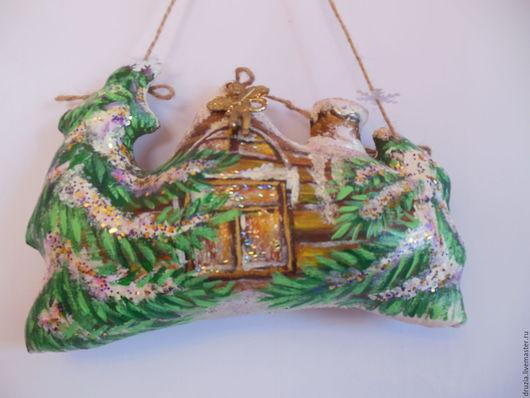 Ароматизированные куклы ручной работы. Ярмарка Мастеров - ручная работа. Купить ретро игрушка Новогодний домик № 3. Handmade.