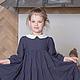 Одежда для девочек, ручной работы. платье для девочки Горошек. млета (mleta1). Интернет-магазин Ярмарка Мастеров. В горошек, Пуговки