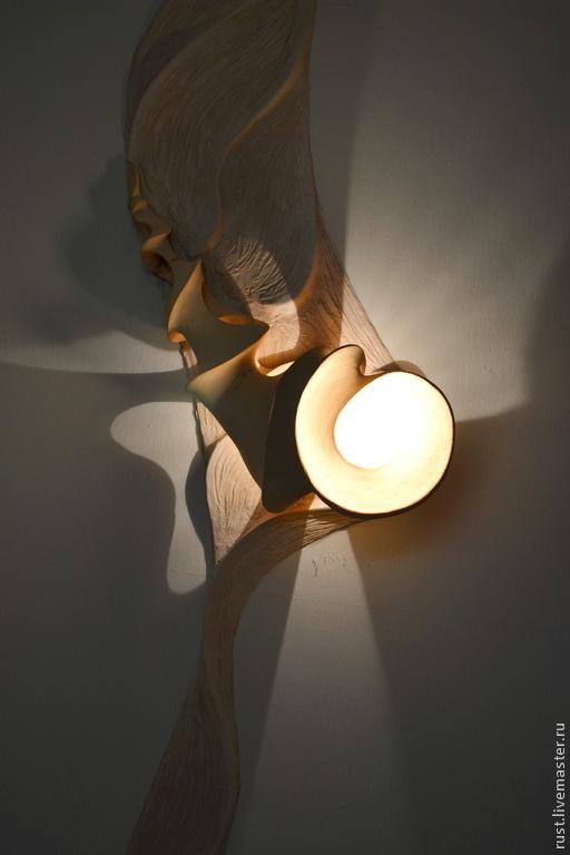 """Освещение ручной работы. Ярмарка Мастеров - ручная работа. Купить светильник """"Виток"""". Handmade. Освещение, светильник из глины, интерьерное украшение"""