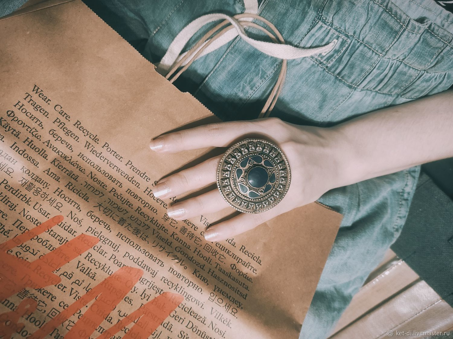 The ring is old and large, Vintage ring, Moscow,  Фото №1