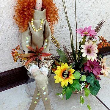 Куклы и игрушки ручной работы. Ярмарка Мастеров - ручная работа Тильды: Кукла Девушка осень. Handmade.