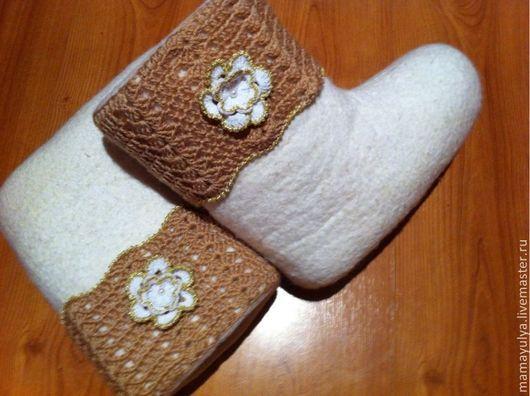 """Обувь ручной работы. Ярмарка Мастеров - ручная работа. Купить Валенки """"молоко и мед"""". Handmade. Валенки, валенки женские"""