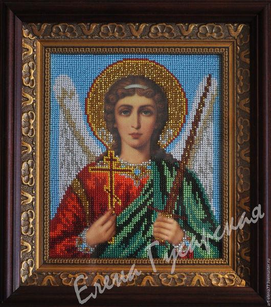 Иконы ручной работы. Ярмарка Мастеров - ручная работа. Купить Икона Ангел Хранитель. Handmade. Икона, икона вышитая бисером