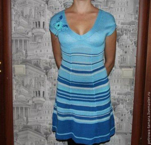 Платья ручной работы. Ярмарка Мастеров - ручная работа. Купить Платье летнее. Голубая мечта. Handmade. Голубой, платье на заказ