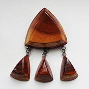 Винтаж handmade. Livemaster - original item Brooch made of wood. Handmade.