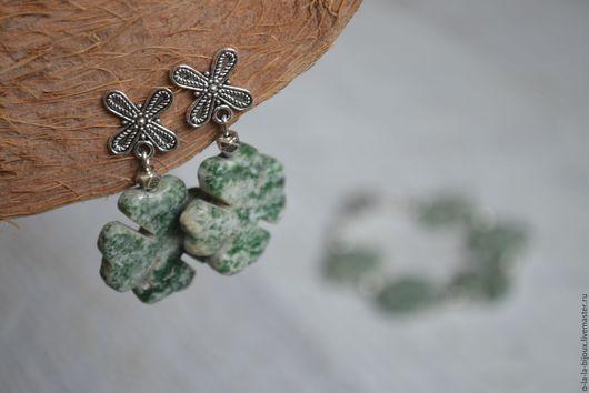 Комплекты украшений ручной работы. Ярмарка Мастеров - ручная работа. Купить Комплект украшений Lucky (Счастливчик): браслет и серьги. Handmade.