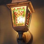 Для дома и интерьера handmade. Livemaster - original item Golden light. Sconce. Decorative lamp. Fusing. Lantern. Unique design. Handmade.