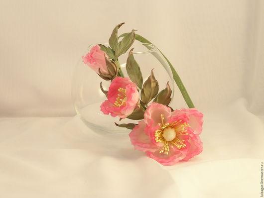 Свадебные аксессуары ручной работы. Ярмарка Мастеров - ручная работа. Купить Ободок с нежным шиповником. Handmade. Розовый, цветы из шелка