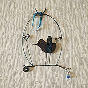 """Подвески ручной работы. Ярмарка Мастеров - ручная работа Подвески: панно """"Синяя птица"""". Handmade."""