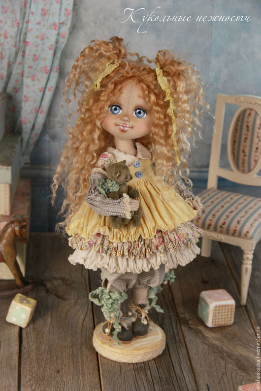 Коллекционные куклы ручной работы. Ярмарка Мастеров - ручная работа. Купить Злата. Кукла авторская текстильная artdoll. Handmade. Шебби