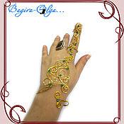 """Украшения ручной работы. Ярмарка Мастеров - ручная работа """"Сабина"""" наладонный браслет с кольцом. Handmade."""