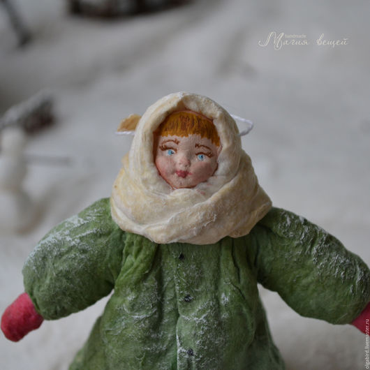 Новый год 2017 ручной работы. Ярмарка Мастеров - ручная работа. Купить Ватная елочная игрушка ЛЮБОПЫТНАЯ ВАРВАРА. Handmade.