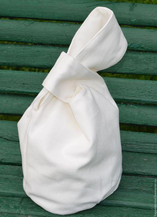 """Женские сумки ручной работы. Ярмарка Мастеров - ручная работа. Купить Сумочка """"Белый хлопок"""" двусторонняя. Handmade. Белый"""