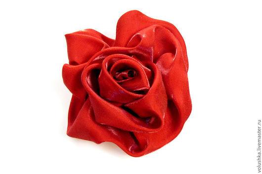 """Броши ручной работы. Ярмарка Мастеров - ручная работа. Купить Брошь из ткани - цветок """"Роза Турайдес"""". Handmade. Брошь из ткани"""