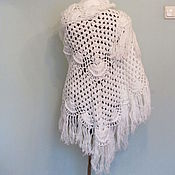 Аксессуары handmade. Livemaster - original item WHITE shawl