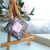 Украшения handmade. Livemaster - original item Brooch embroidered motley Grass, 7 x 6,8 cm. Handmade.