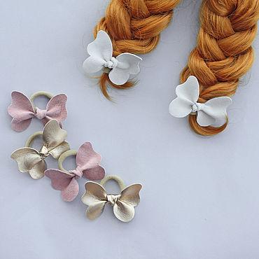 Works for children handmade. Livemaster - original item Set Of baby butterfly hair bands. Handmade.