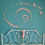"""Для дома и интерьера ручной работы. Ярмарка Мастеров - ручная работа Бабочки на стену """"Butterfly style"""" набор сказка 120шт. Handmade."""