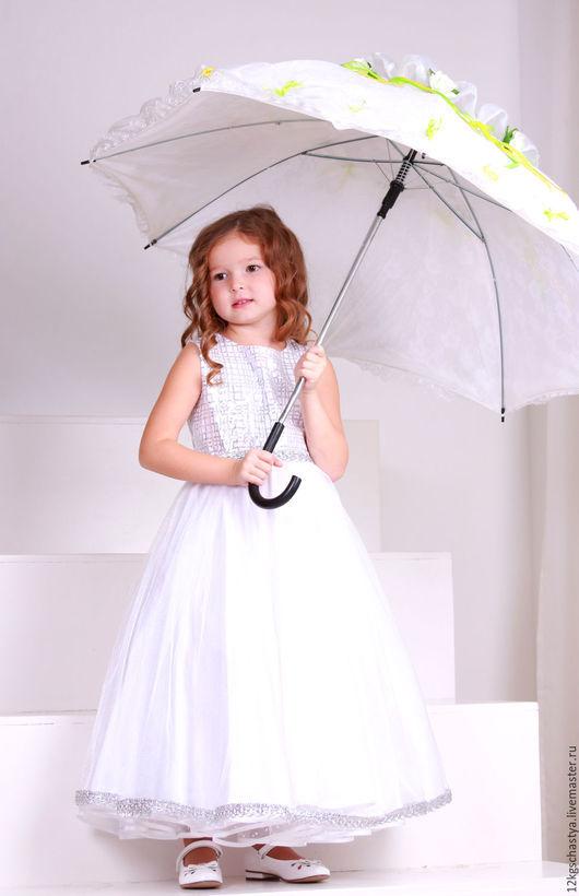 """Одежда для девочек, ручной работы. Ярмарка Мастеров - ручная работа. Купить Платье для девочки """"Снежинка"""". Handmade. Белый, пышная юбка"""
