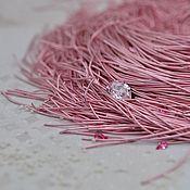 Канитель ручной работы. Ярмарка Мастеров - ручная работа Мягкая канитель 1мм(Baby Pink. Handmade.