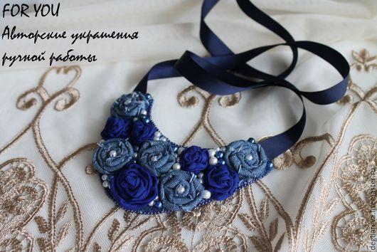 """Колье, бусы ручной работы. Ярмарка Мастеров - ручная работа. Купить Колье """"Royal blue"""". Handmade. Тёмно-синий"""