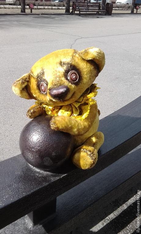 Мишки Тедди ручной работы. Ярмарка Мастеров - ручная работа. Купить Солнечный. Handmade. Желтый, мишка в подарок, опилки древесные