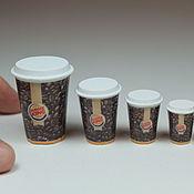 Кукольная еда ручной работы. Ярмарка Мастеров - ручная работа Кукольная еда: кофе в стакане, в ассортименте. Handmade.