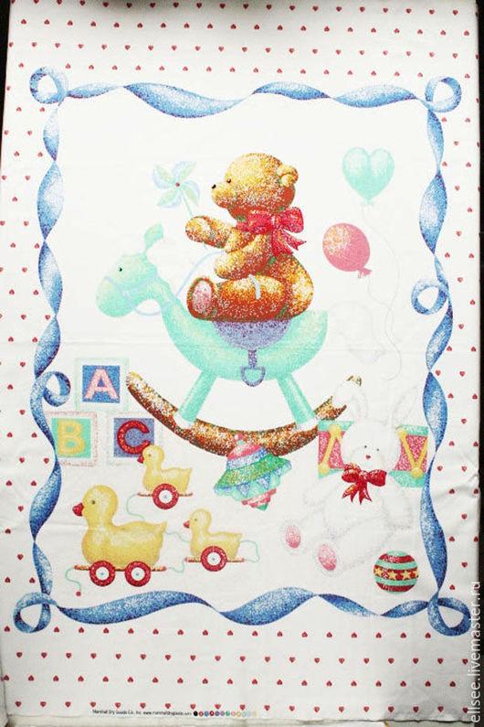 """Шитье ручной работы. Ярмарка Мастеров - ручная работа. Купить Панель  """"Любимые игрушки"""" №13. Handmade. Ткани, ткани хлопок"""