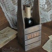 """Для дома и интерьера ручной работы. Ярмарка Мастеров - ручная работа Короб с ручкой """"Wine"""". Handmade."""