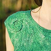 """Одежда ручной работы. Ярмарка Мастеров - ручная работа """"Ундина""""- платье валяное в технике nunofelting. Handmade."""