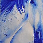 Картины и панно ручной работы. Ярмарка Мастеров - ручная работа Портрет лошади акварелью. Handmade.