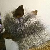 Для домашних животных, ручной работы. Ярмарка Мастеров - ручная работа пуховая шапочка для собаки. Handmade.
