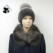 Аксессуары handmade. Livemaster - original item Fur detachable collar fringe Fox fur TK-276. Handmade.