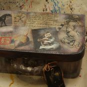"""Сумки и аксессуары ручной работы. Ярмарка Мастеров - ручная работа """"Старые игрушки"""" - чемодан-балетка, винтаж. Handmade."""
