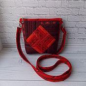 Классическая сумка ручной работы. Ярмарка Мастеров - ручная работа Маленькая сумочка 15 см, Для авто, Для телефона, Пэчворк, Красный. Handmade.