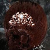 Украшения handmade. Livemaster - original item Hair comb with pearl white stone
