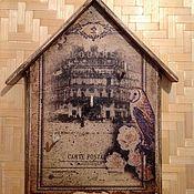 """Для дома и интерьера ручной работы. Ярмарка Мастеров - ручная работа Ключница-вешалка домик """"Paris"""". Handmade."""