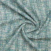 Материалы для творчества handmade. Livemaster - original item Fabric: Chanel tweed in turquoise tones. Handmade.