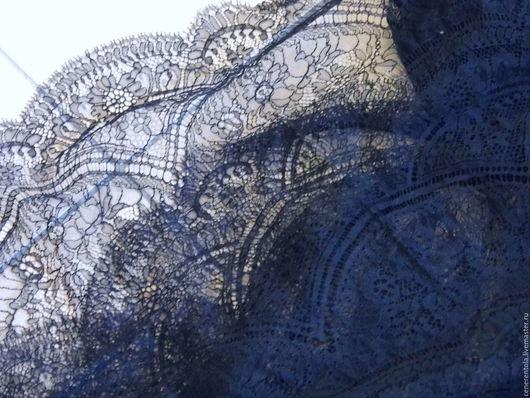 Реставрация. Ярмарка Мастеров - ручная работа. Купить винтажное кружевное полотно. цвет чёрный. Handmade. Черный, кружево