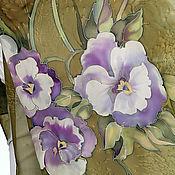 """Одежда ручной работы. Ярмарка Мастеров - ручная работа Двойное Платье+Шарф """"Анютки""""  в стиле бохо батик. Handmade."""