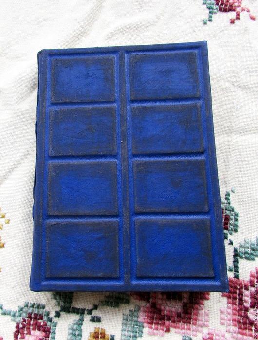 Блокноты ручной работы. Ярмарка Мастеров - ручная работа. Купить Книга для записей. Handmade. Тёмно-синий, кожа натуральная