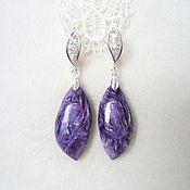 Украшения handmade. Livemaster - original item Earrings charoite. Handmade.