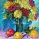 """Картины цветов ручной работы. Ярмарка Мастеров - ручная работа. Купить """"Любимые Моменты Жизни"""" картина с букетом цветов. Handmade."""