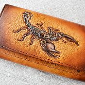 Сумки и аксессуары handmade. Livemaster - original item Purse large with a Scorpion. Handmade.